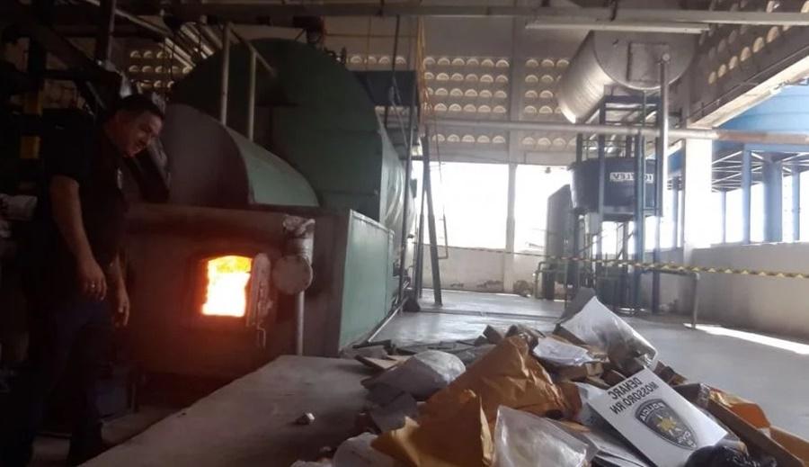 Polícia Civil incinera 150 quilos de drogas em Mossoró