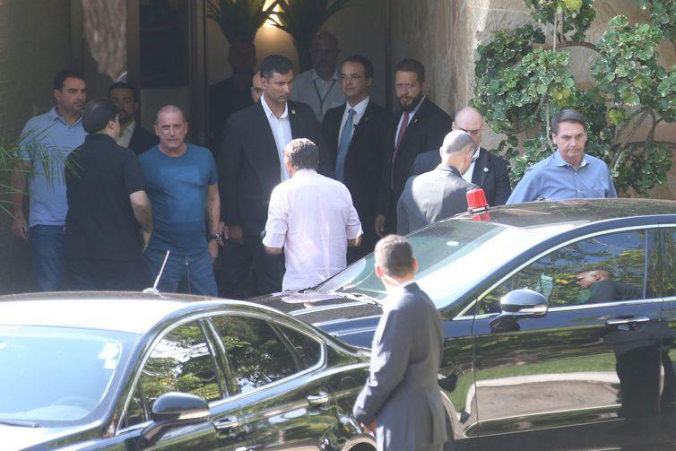 Em churrasco, Maia recebe Bolsonaro, Toffoli e Alcolumbre