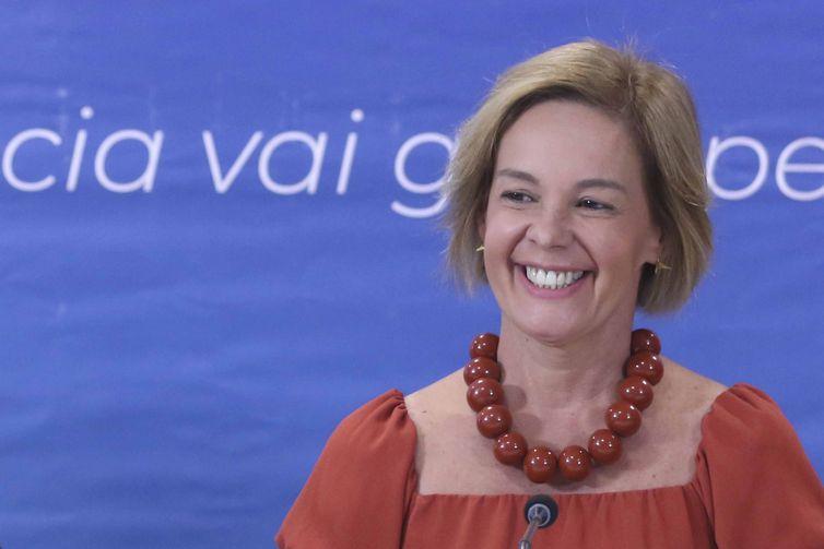 A professora Vandete Pereira Lima, durante lançamento da 12ª edição do Prêmio Professores do Brasil. -Valter Campanato/Agência Brasil