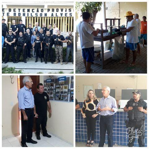 Secretário da Sejuc visita a Cadeia Pública de Caraúbas e o CDP de Apodi