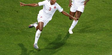 Kadeisha Buchanan, jogadora da seleção do Canadá na Copa França - 2019 - Eric Gaillard/Reuters/Direitos Reservados