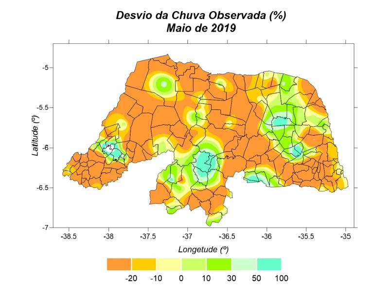 Maio tem chuvas abaixo da média no RN