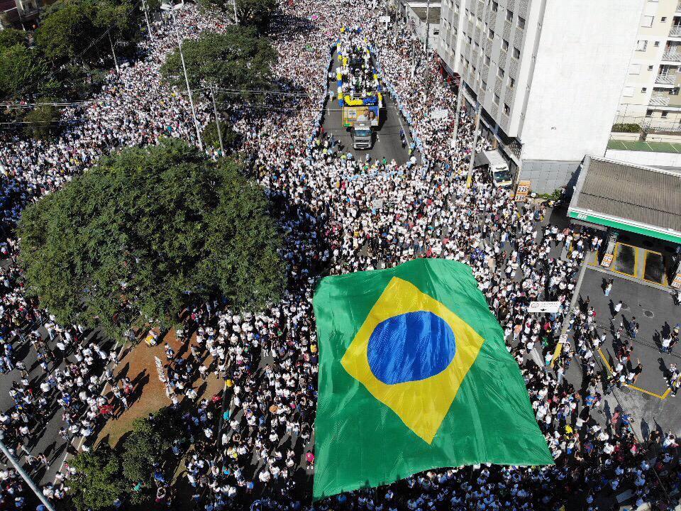 Bolsonaro participa hoje da marcha para Jesus, em São Pauilo