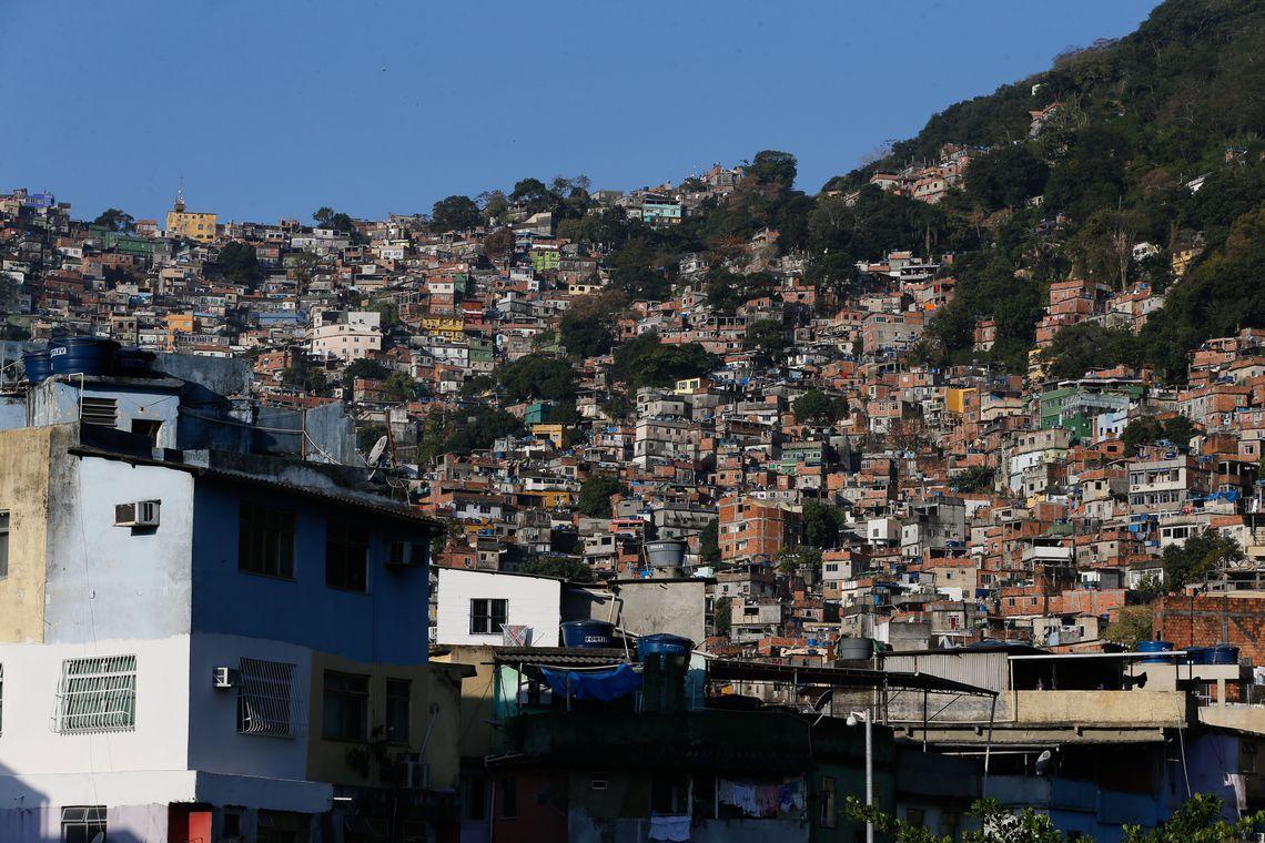 Rio de Janeiro - Comunidade da Rocinha, na zona sul do Rio de Janeiro, após confrontos de grupos de traficantes rivais pelo controle de pontos de venda de drogas. (Foto: Fernando Frazão/Agência Brasil).