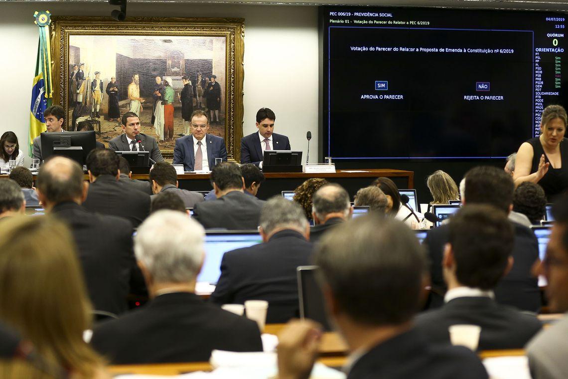 Sessão para votação sobre a Reforma da Previdência.