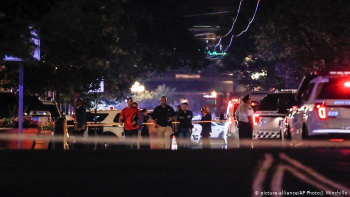 Ataque a tiros ocorreu em região de bares em Dayton, em Ohio Foto Deutsche Welle