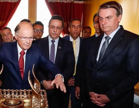 Bolsonaro em visita a templo evangélico ao lado de Edir Macedo, no fim de semana / Alan Santos | PR