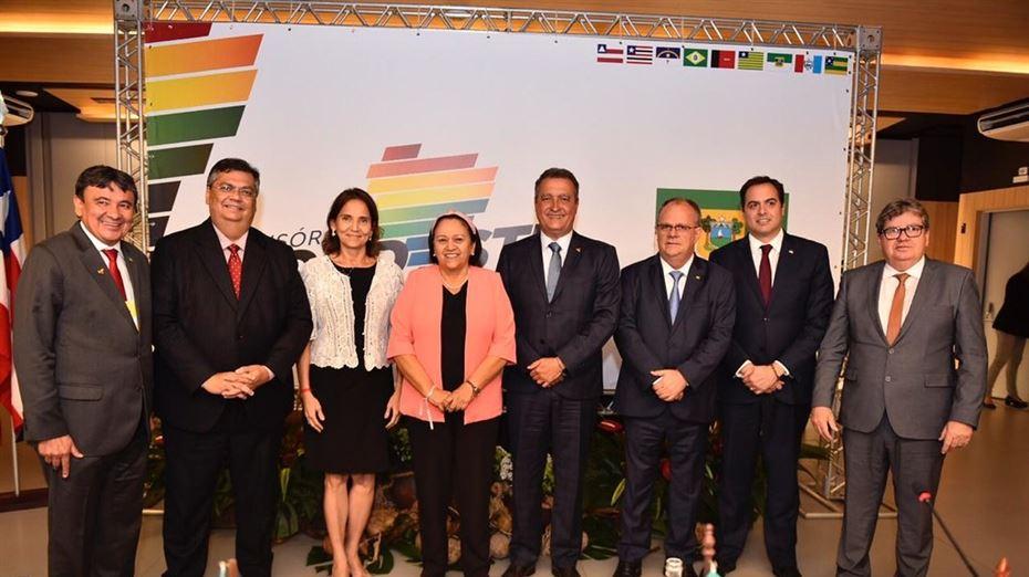 Fátima e governadores do NE