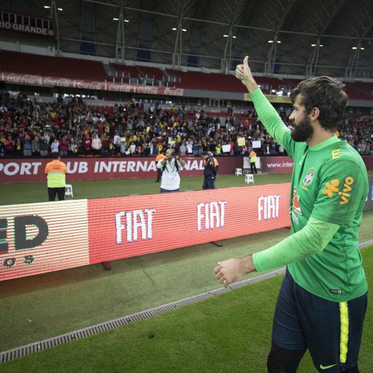 Alisson, do Liverpool da Inglaterra e da Seleção Brasileira disputa o título de melhor goleiro do mundo deste ano -Lucas Figueiredo - CBF