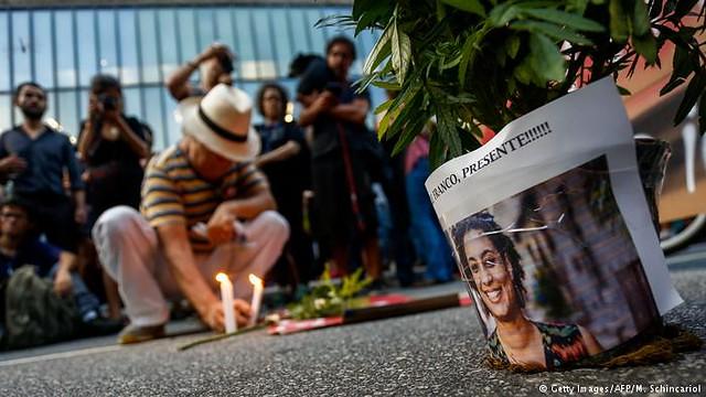 Homenagens a Marielle Franco no dia 14 de março de 2019, um ano após o assassinato / Miguel Schincariol / AFP