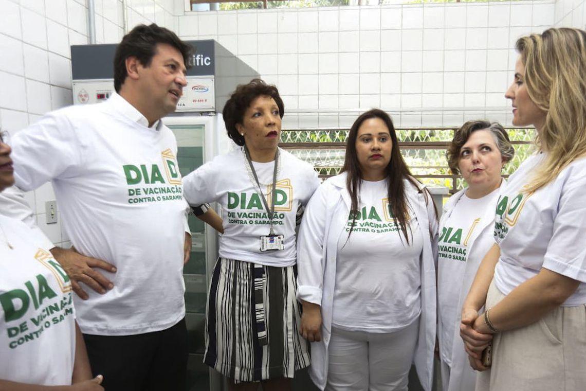 Ministro da Saúde lança Dia D de vacinação contra o sarampo em SP