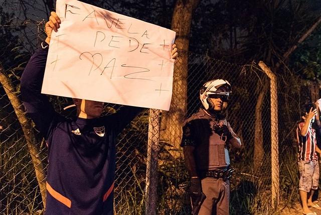 Moradores de Paraisópolis se manifestam contra ação da PM / Foto: Mídia Ninja