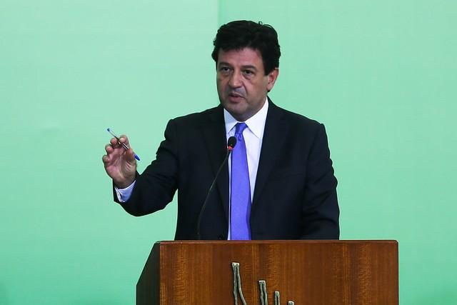 O ministro da Saúde, Luiz Henrique Mandetta, participa da solenidade de lançamento do Programa Previne Brasil