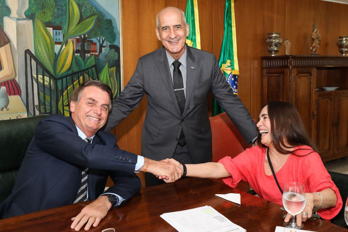 (Brasília - DF, 29/01/2020) Encontro com a atriz Regina Duarte. Foto: Marcos Corrêa/PR