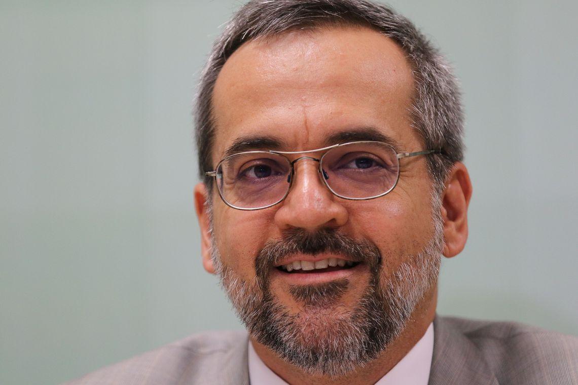 O ministro da educação Abraham Weintraub lança programa Conta pra Mim