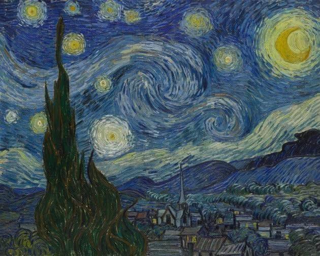 (A noite estrelada, de Vincent Van Gogh)