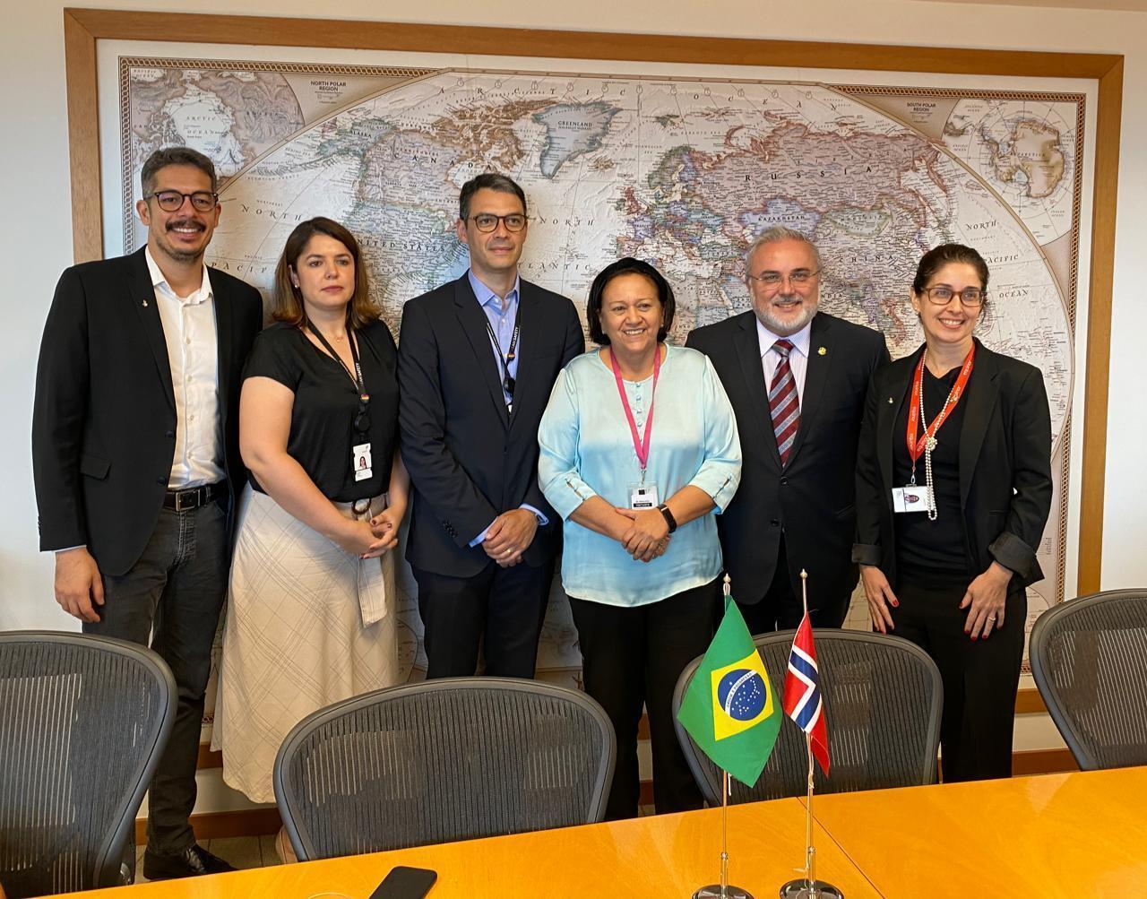 Governadora Fátima Bezerra e senador Jean Paul Prates foram recebidos no Rio de Janeiro por representantes da Equinor